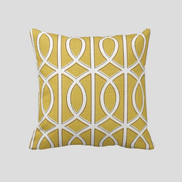 Lattice(Yellow)Pillow